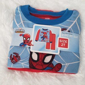 NWT Boy's Spiderman Size 2T Fleece Pajama